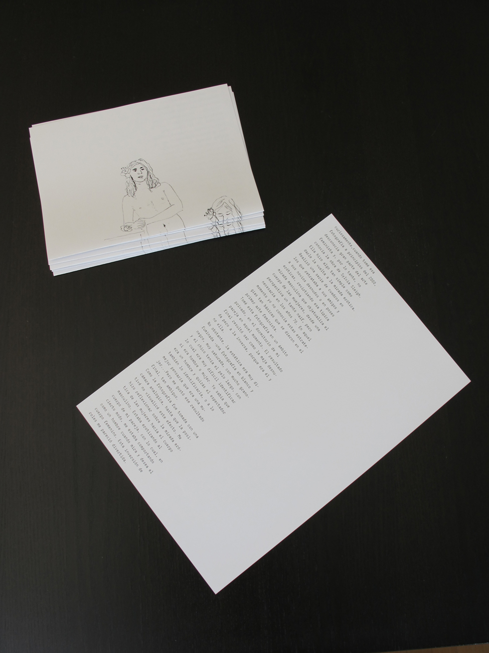 Printed zine