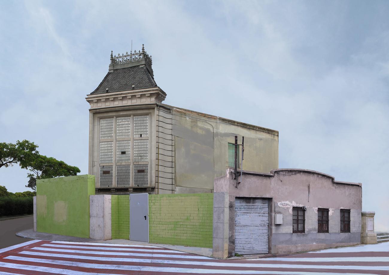 small composite building