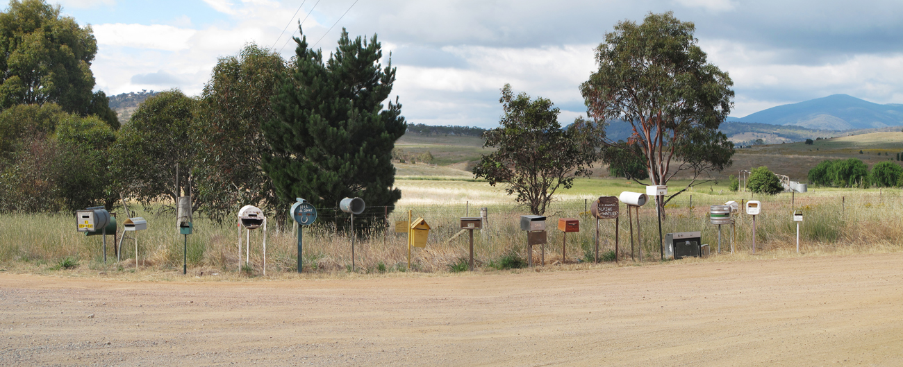 mailboxes on Bumbalong road