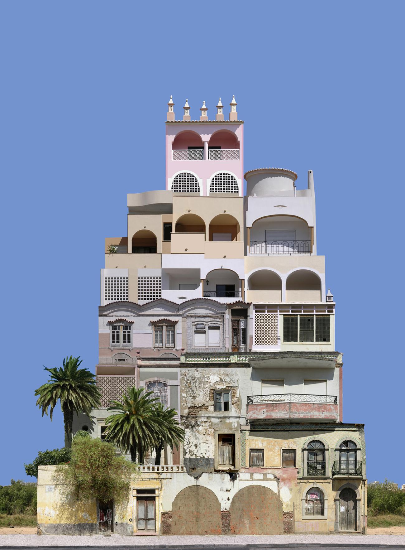 photomontage: aggregate building