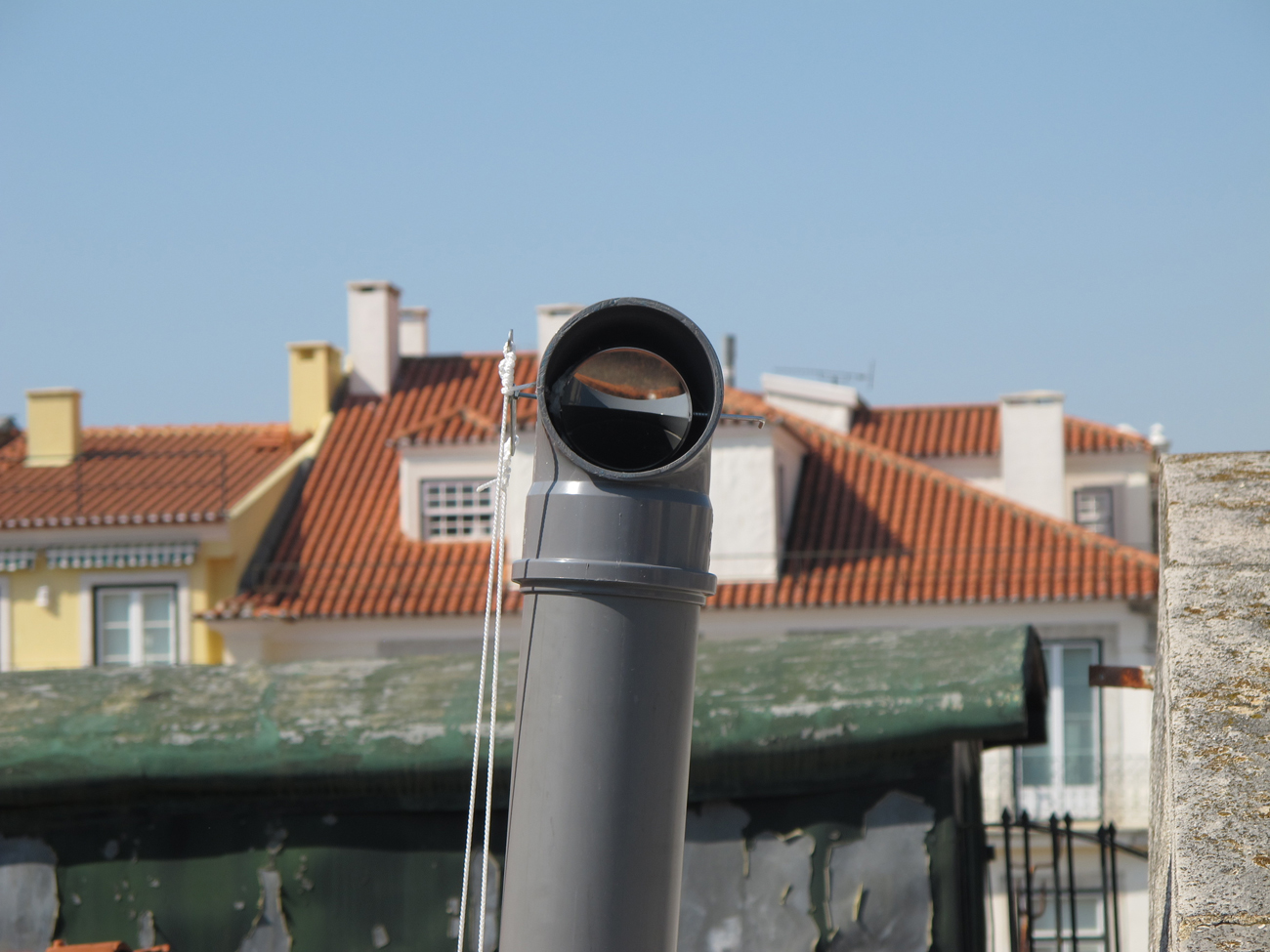 detail of periscope and exterior view