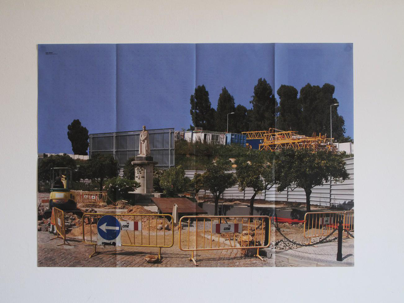 photo of urban planning poster on wall