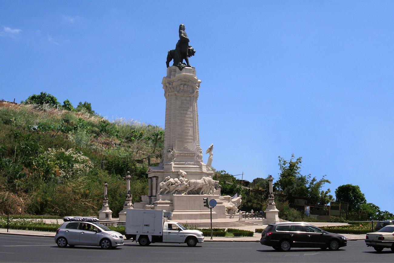 monumental sculpture transferred to semi rural setting