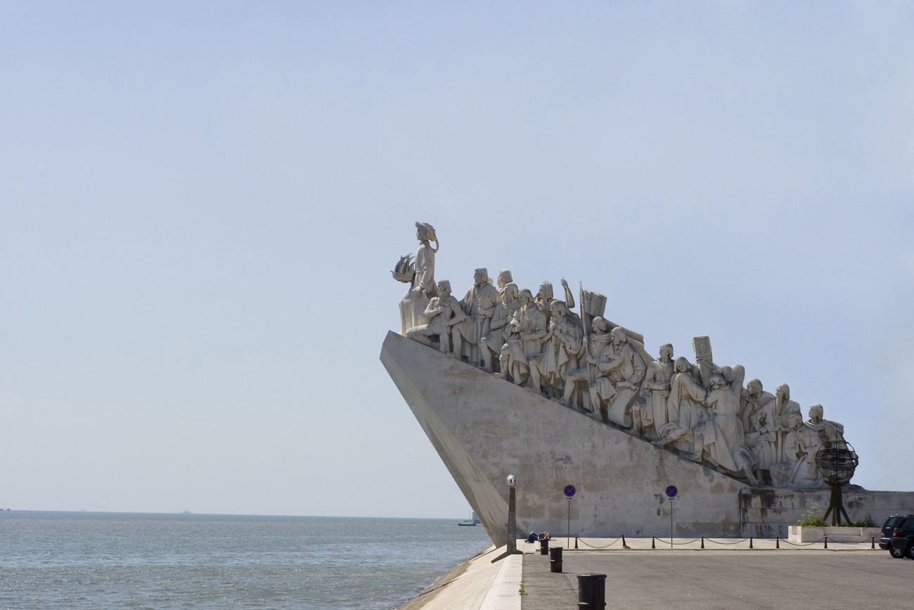 deconstructed monument to Portuguese navigators