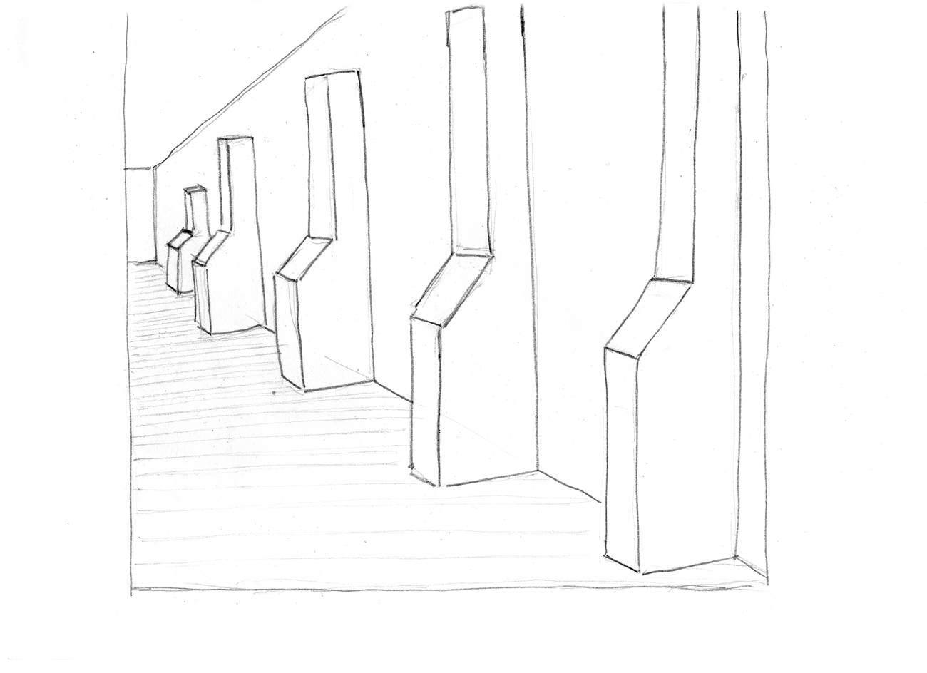 drawing of inner wall buttresses
