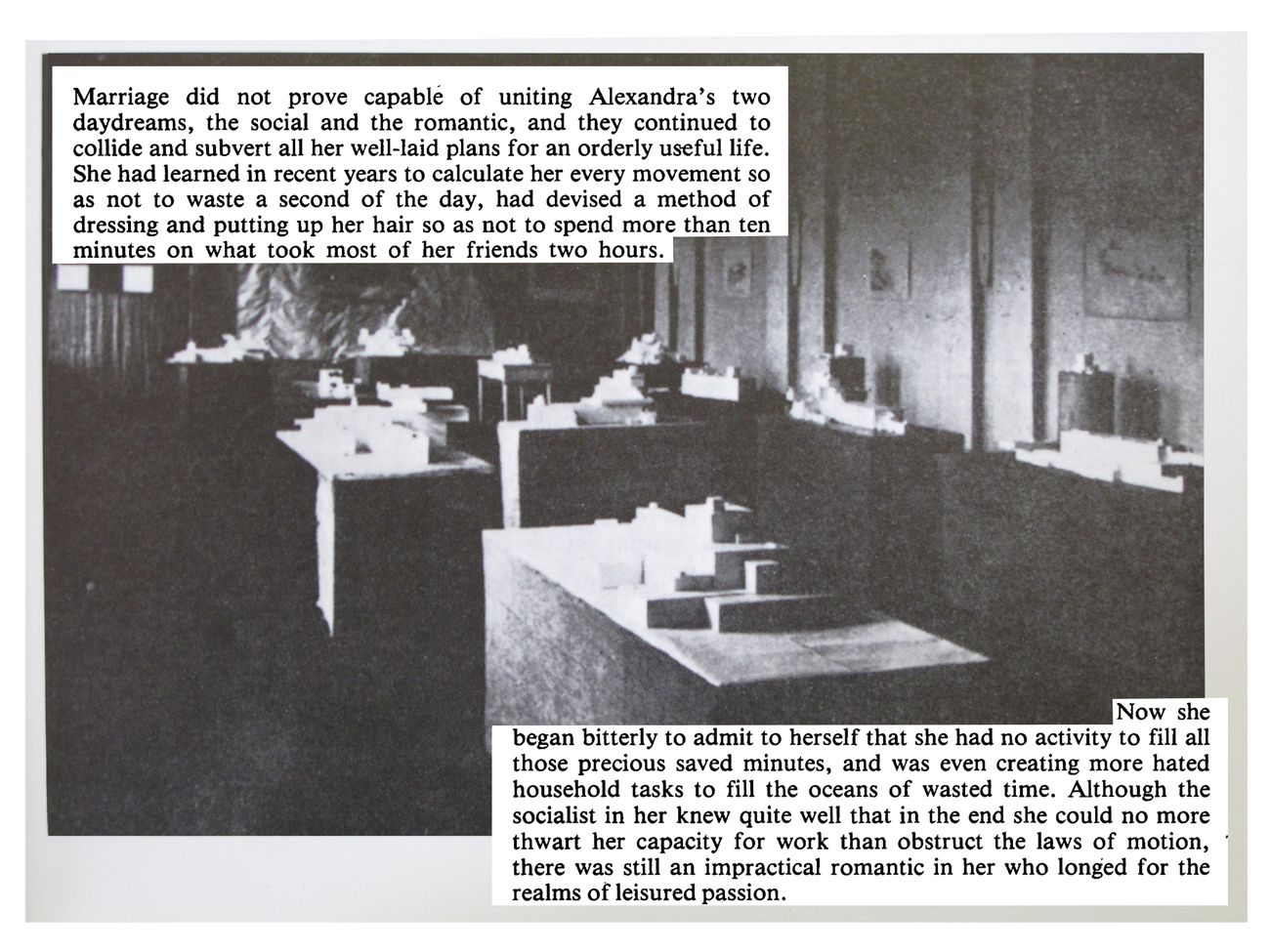 photo of suprematist exhibition with text